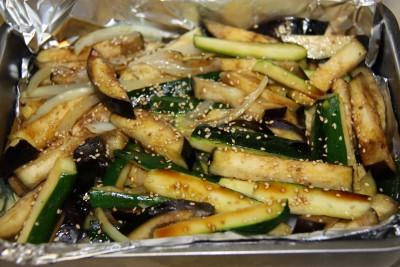 samon veggies