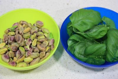 pesto con pistachos