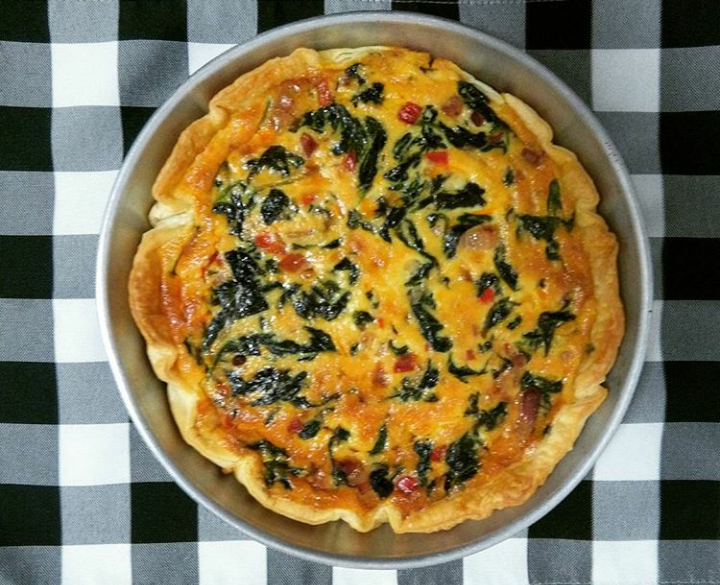 Quiche de touciño, espinacas e requeixo das Neves - Xabier